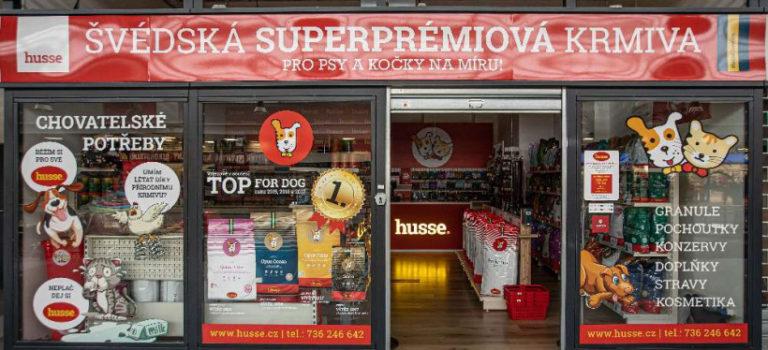 NOVĚ V OD Centrum prodejna s prémiovými krmivy HUSSE a ZÁSILKOVNA!